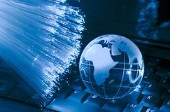 Globo da terra da tecnologia Imagem de Stock