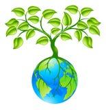 Globo da terra do planeta com conceito três Imagem de Stock
