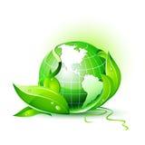 globo da terra do vetor 3D Imagens de Stock