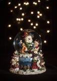 Globo de Bokeh del muñeco de nieve Imagen de archivo