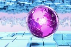 Globo de brilho Imagem de Stock