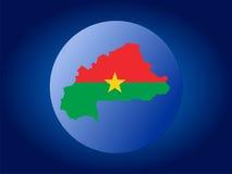 Globo de Burkina Faso Fotos de archivo libres de regalías