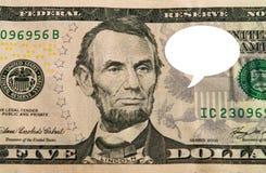 Globo de cinco dólares Fotografía de archivo