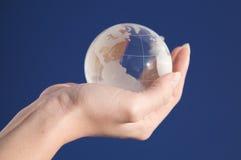 Globo de cristal Imagen de archivo libre de regalías