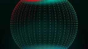 Globo de gerencio futurista do mundo do sumário Laço moderno abstrato do fundo que gerencie com partículas ilustração do vetor