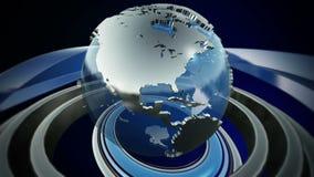 Globo de giro del mundo ilustración del vector
