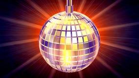 Globo de la discoteca, rayos ligeros detrás, LAZO, cantidad común ilustración del vector