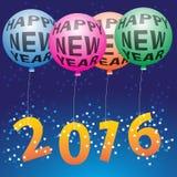 Globo de la Feliz Año Nuevo Imagen de archivo libre de regalías