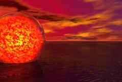Globo de la lava Fotografía de archivo libre de regalías