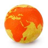 Globo de la naranja del ánimo Foto de archivo libre de regalías