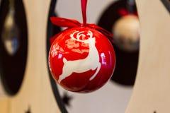 Globo de la Navidad Fotografía de archivo