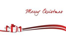 Globo de la Navidad en fondo gris con nieve Imágenes de archivo libres de regalías
