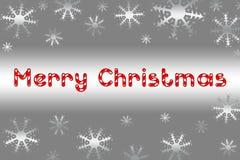 Globo de la Navidad en fondo gris con nieve imagenes de archivo