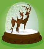 Globo de la nieve - ciervo stock de ilustración