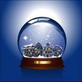 Globo de la nieve con la ciudad adentro stock de ilustración