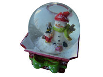 Globo de la nieve con Papá Noel fotos de archivo libres de regalías