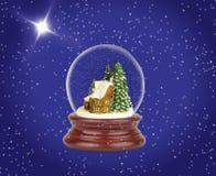 Globo de la nieve de la Navidad Fotos de archivo