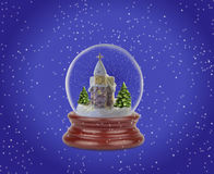 Globo de la nieve de la Navidad Fotos de archivo libres de regalías