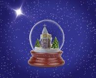 Globo de la nieve de la Navidad Imágenes de archivo libres de regalías