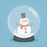 Globo de la nieve de la Navidad Imagenes de archivo