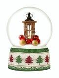 Globo de la nieve de la Navidad en el fondo blanco Foto de archivo