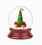 Globo de la nieve de la Navidad en el fondo blanco Fotografía de archivo