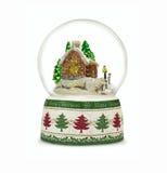 Globo de la nieve de la Navidad en el fondo blanco Imagen de archivo