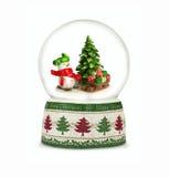 Globo de la nieve de la Navidad en el fondo blanco Fotos de archivo libres de regalías