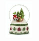 Globo de la nieve de la Navidad en el fondo blanco Fotografía de archivo libre de regalías