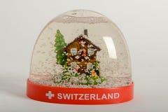 Globo de la nieve de Suiza Fotografía de archivo
