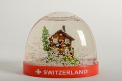Globo de la nieve de Suiza Fotografía de archivo libre de regalías