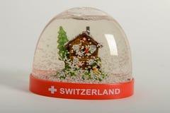 Globo de la nieve de Suiza Imagen de archivo