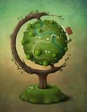 Globo de la tierra stock de ilustración