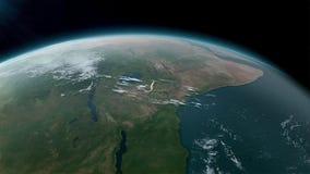 Globo de la tierra aislado en fondo negro Elementos de esta imagen equipados por la NASA ilustración del vector