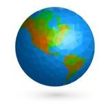Globo de la tierra bajo polivinílico Imagen de archivo
