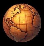 Globo de la tierra de Grunge Imagen de archivo libre de regalías