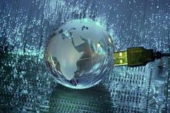 Globo de la tierra de la tecnología Foto de archivo libre de regalías
