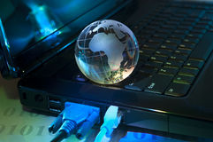 Globo de la tierra de la tecnología Imagenes de archivo