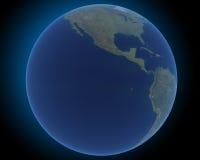 Globo de la tierra en el espacio Foto de archivo libre de regalías