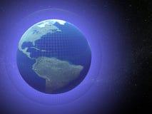 Globo de la tierra en futuro Stock de ilustración