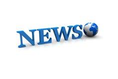 Globo de las noticias Fotos de archivo