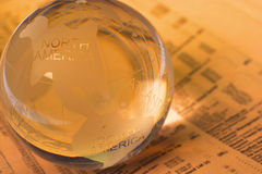 Globo de mármore Fotografia de Stock Royalty Free