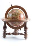Globo de madera del viejo estilo en fondo aislado. Foto de archivo libre de regalías