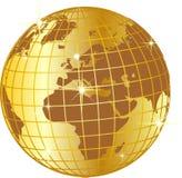 Globo de oro brillante stock de ilustración