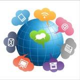 Globo de uma comunicação Fotografia de Stock