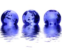 Globo de vidro azul Imagem de Stock Royalty Free