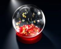 Globo de vidro com estrelas Foto de Stock