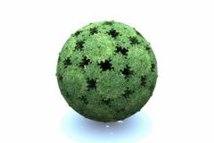 globo degli ingranaggi verdi Immagine Stock Libera da Diritti