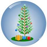 Globo del árbol Imagen de archivo libre de regalías