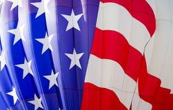Globo del aire caliente de la bandera de Estados Unidos, Colorado Springs, Colorado imagen de archivo